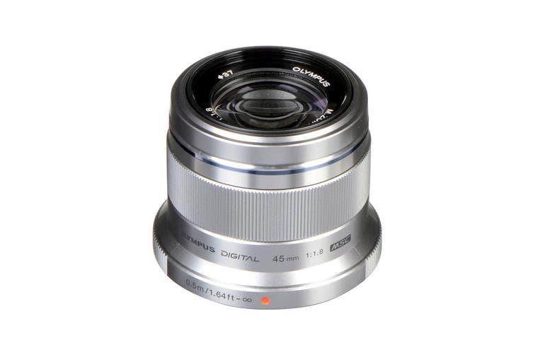 Olympus ET-M4518 M.Zuiko 45mm f1.8 Portrait Lens - Silver