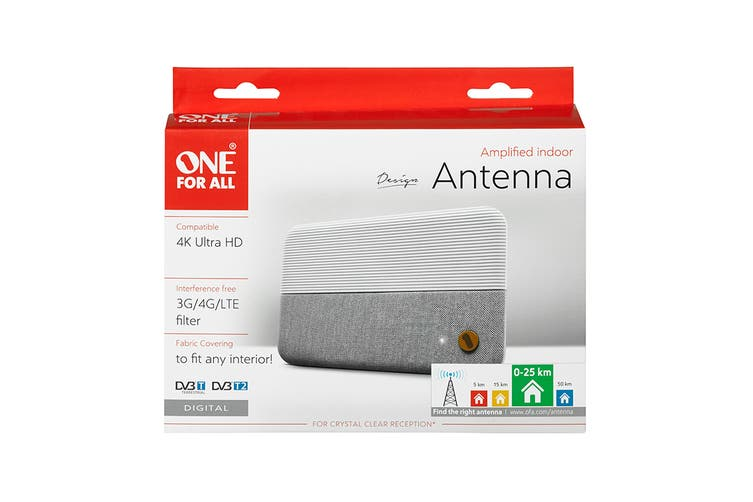 One For All Amplified Indoor Antenna with 25km Range (UE-SV9436)