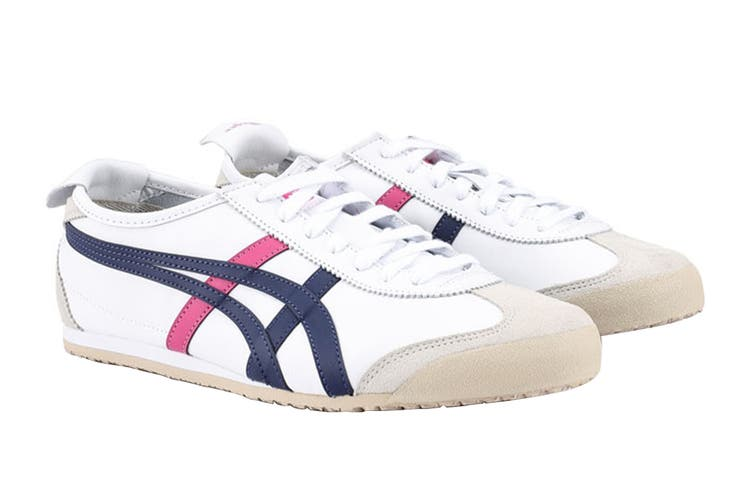 Onitsuka Tiger Mexico 66 Shoe (White/Navy/Pink, Size 10 US)