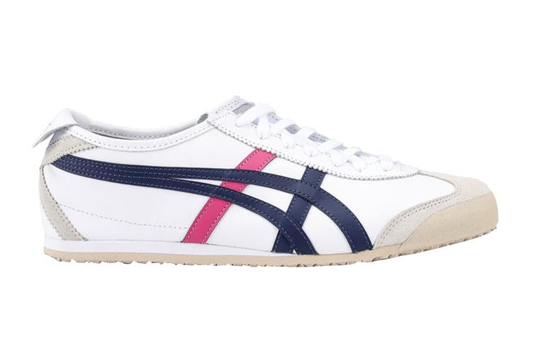 Onitsuka Tiger Mexico 66 Shoe (White/Navy/Pink, Size 11.5 US)