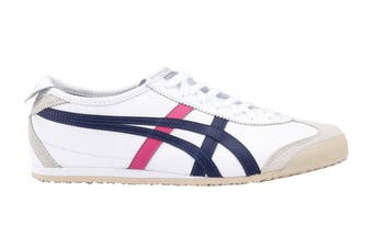 Onitsuka Tiger Mexico 66 Shoe (White/Navy/Pink, Size 12.5 US)