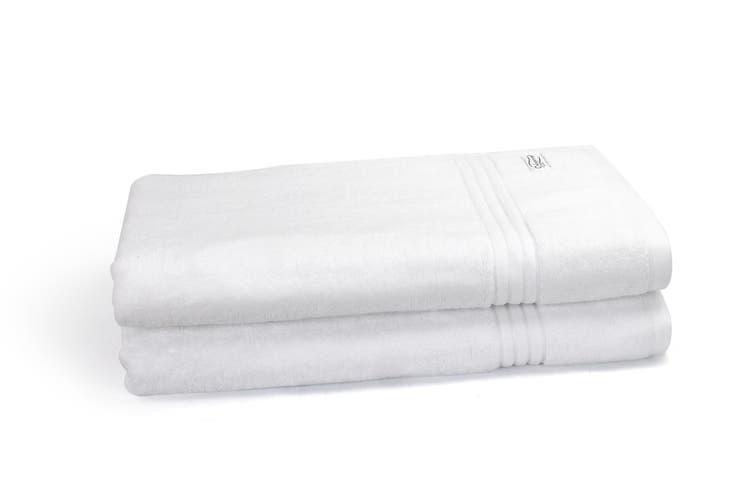 Onkaparinga Haven 600gsm Bath Sheet Set of 2 (White)
