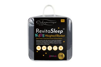 Onkaparinga RevitaSleep 3kg Kids Weighted Blanket with Machine Washable Cotton Cover  - Charcoal