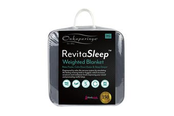 Onkaparinga RevitaSleep 5kg Weighted Blanket with Machine Washable Cotton Cover - Charcoal