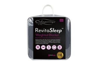 Onkaparinga RevitaSleep 9kg Weighted Blanket with Machine Washable Cotton Cover - Charcoal