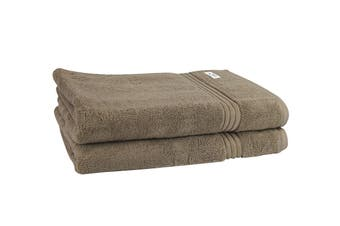 Onkaparinga Haven 600gsm Bath Sheet Set of 2 (Mocha)