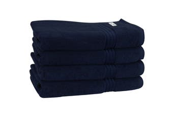 Onkaparinga Haven 600gsm Bath Towel Set of 4 (Navy)