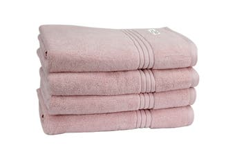 Onkaparinga Haven 600gsm Bath Towel Set of 4 (Pink)