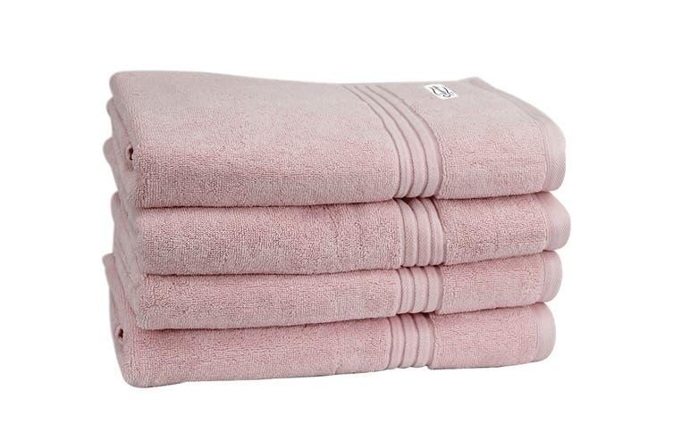Onkaparinga Haven 600gsm Bath Towel Set of 4 (Pink)