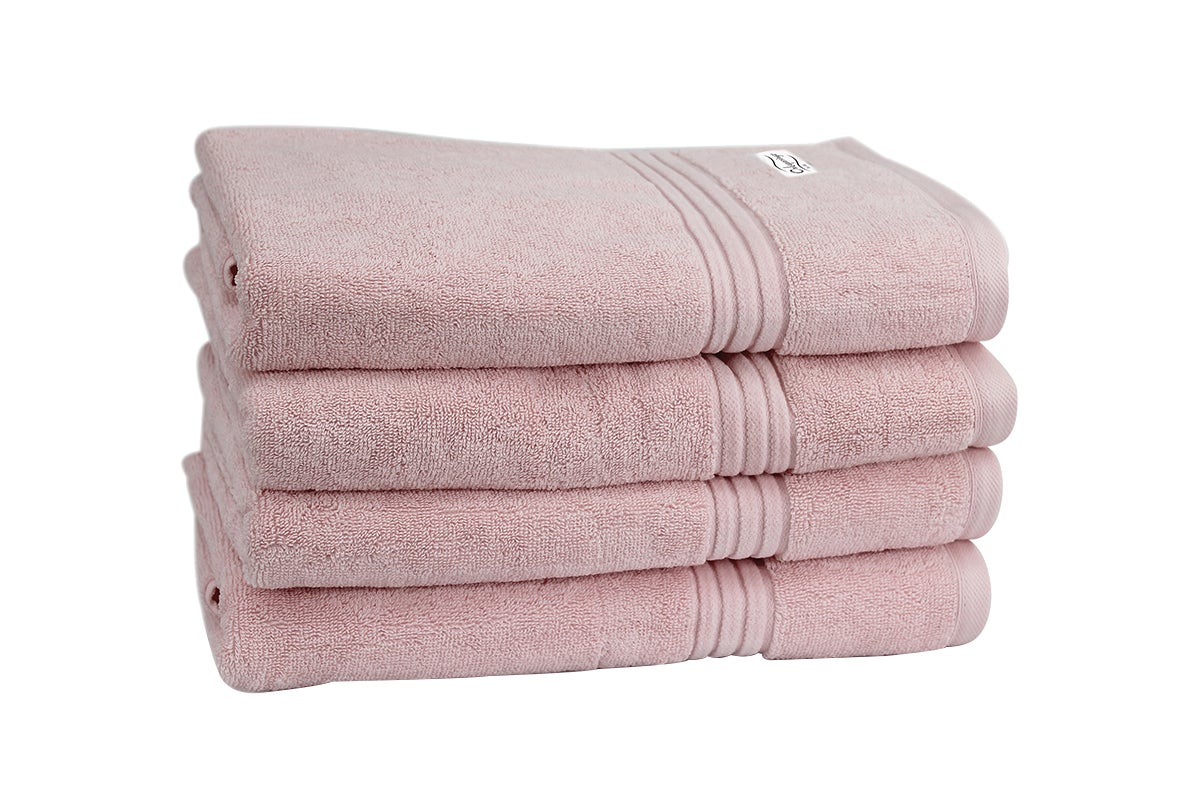 Onkaparinga Haven 600gsm Bath Towel Set Of 4 Pink Matt Blatt