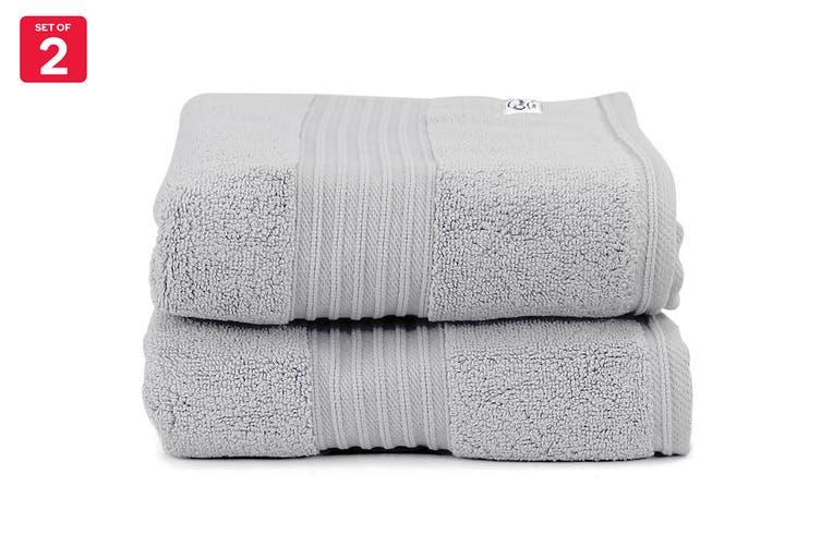 Onkaparinga Ultimate 100% Turkish Cotton Bath Mat Set of 2 (Silver)