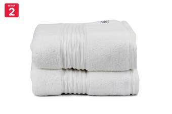 Onkaparinga Ultimate 100% Turkish Cotton Bath Mat Set of 2 (White)