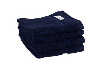 Onkaparinga Haven 600gsm Face Washer Set of 4 (Navy)