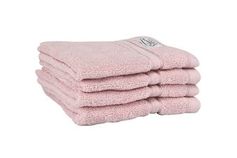 Onkaparinga Haven 600gsm Face Washer Set of 4 (Pink)