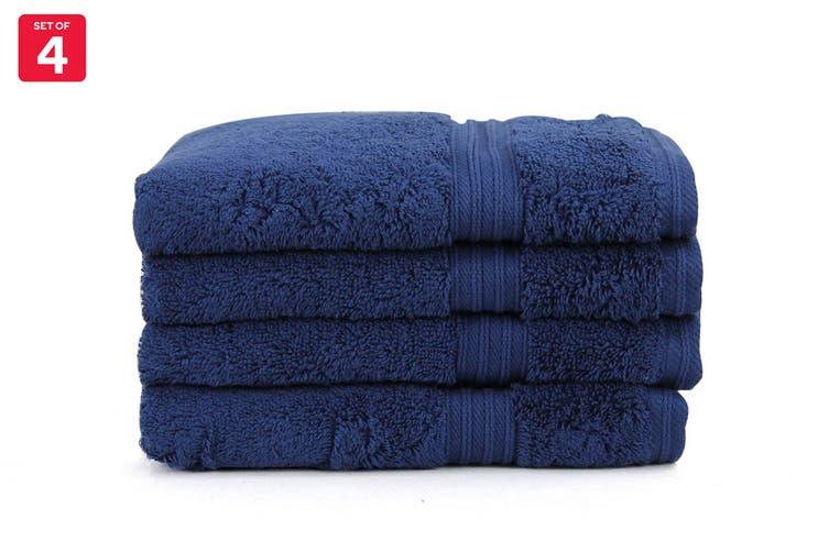 Onkaparinga Ultimate 100% Turkish Cotton Hand Towel Set of 4 (Midnight)