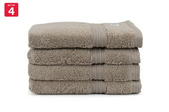 Onkaparinga Ultimate 100% Turkish Cotton Hand Towel Set of 4 (Mocha)