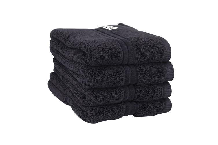 Onkaparinga Haven 600gsm Hand Towel Set of 4 (Charcoal)
