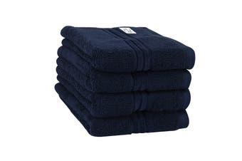 Onkaparinga Haven 600gsm Hand Towel Set of 4 (Navy)