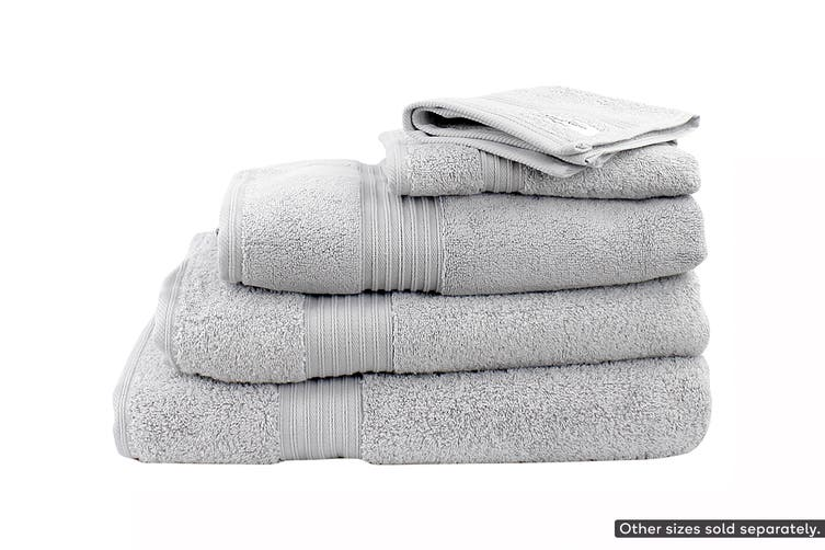 Onkaparinga Ultimate 100% Turkish Cotton Hand Towel Set of 4 (Silver)