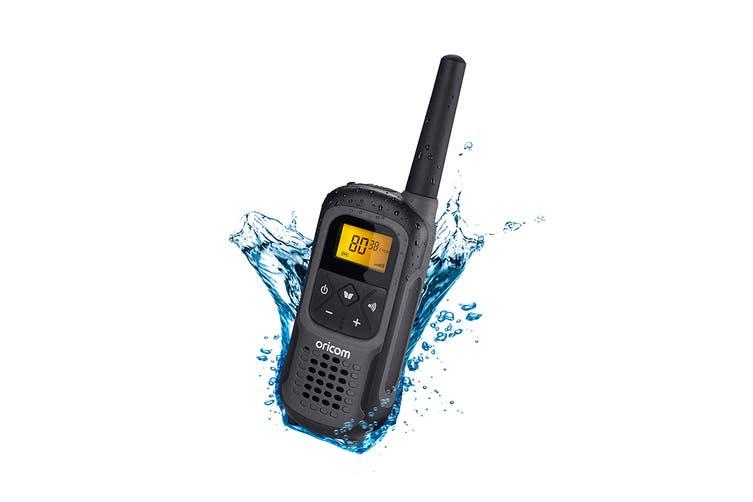 Oricom 2W Waterproof Portable IPX7 UHF CB Radio - Single Pack (UHF2500-1GR)