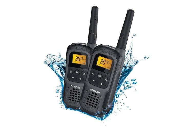 Oricom 2W Waterproof Handheld Portable IPX7 UHF CB Radio - Twin Pack (UHF2500-2GR)
