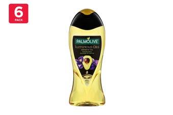 Palmolive 400ml Shower Gel Luminous Oils Nourishing Avocado Oil With Iris (6 Pack)
