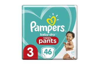 Pampers 46 Pack Craweler Nappy Pants (Size 3)