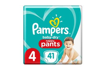 Pampers 41 Pack Toddler Nappy Pants (Size 4)