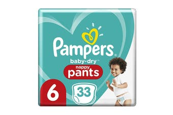 Pampers 33 Pack Junior Nappy Pants (Size 6)