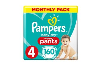 Pampers 160 Pack Toddler Nappy Pants (Size 4)