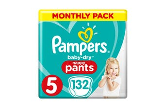 Pampers 132 Pack Walker Nappy Pants (Size 5)