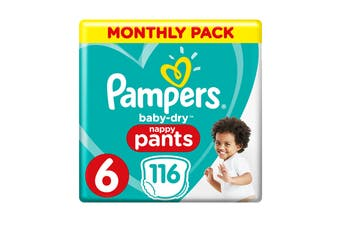 Pampers 116 Pack Junior Nappy Pants (Size 6)