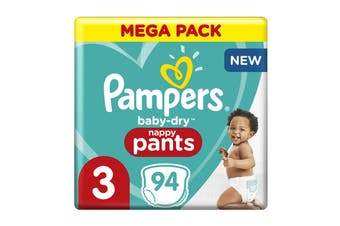 Pampers 94 Pack Crawler Nappy Pants (Size 3)