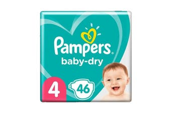 Pampers 46 Pack Baby Dry Tapes Toddler Nappies (Size 4)