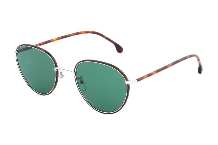 Paul Smith ALBION Sunglasses (Tortoise/Silver, Size 53-21-145) - Green