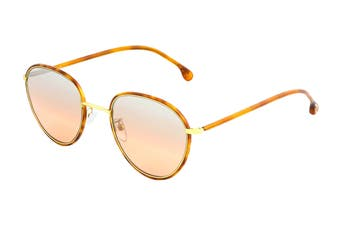 Paul Smith ALBION Sunglasses (Honey Turtle/Matte Gold, Size 53-21-145) - Tan Gradient
