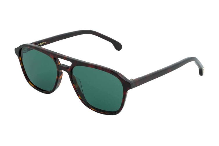 Paul Smith ALDER Sunglasses (Deep Tortoise, Size 55-14-175) - Green