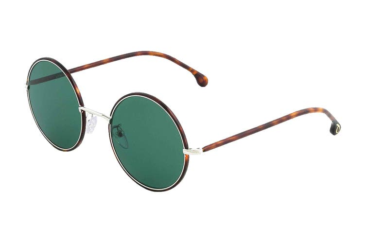Paul Smith ALFORD Sunglasses (Tortoise/Silver, Size 51-21-145) - Green