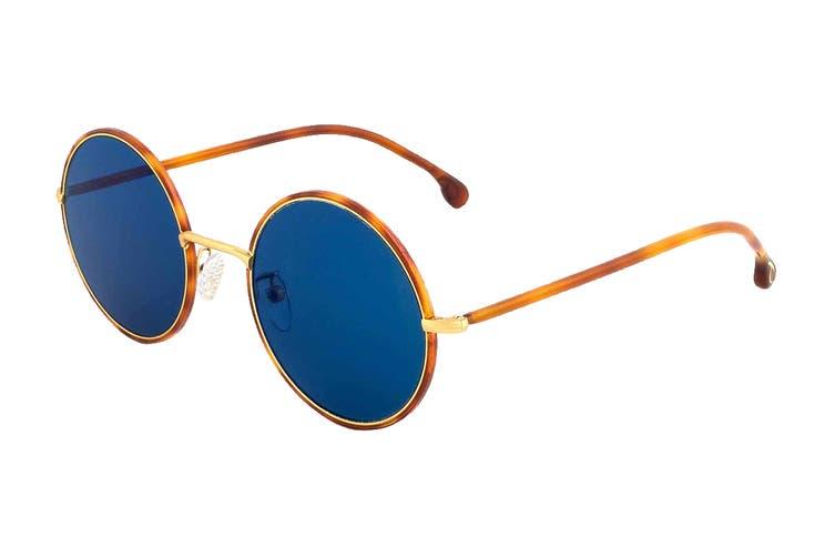 Paul Smith ALFORD Sunglasses (Honey Turtle/Matte Gold, Size 51-21-145) - Blue