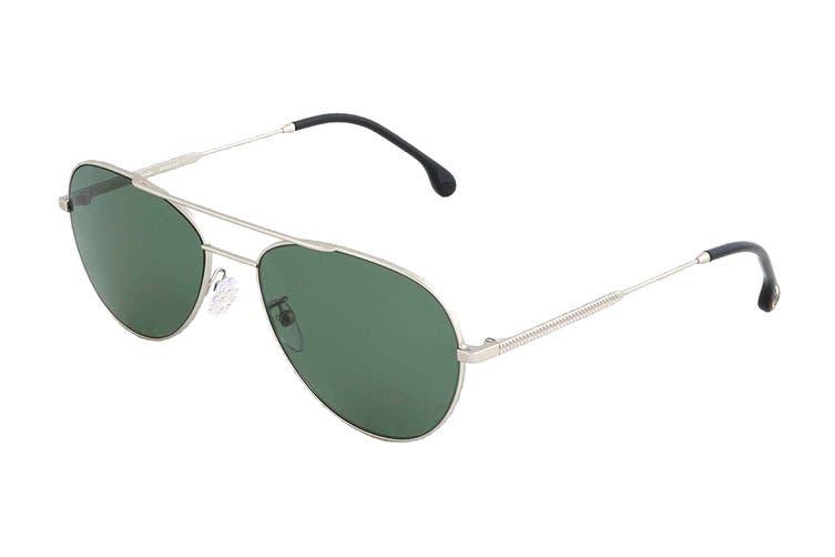 Paul Smith ANGUS Sunglasses (Matte Silver, Size 58-17-145) - Green