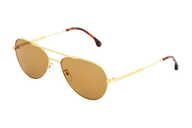 Paul Smith ANGUS Sunglasses (Matte Gold, Size 58-17-145) - Brown