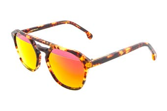 Paul Smith BARFORD Sunglasses (Honeycomb Tortoise, Size 52-22-145) - Red Split