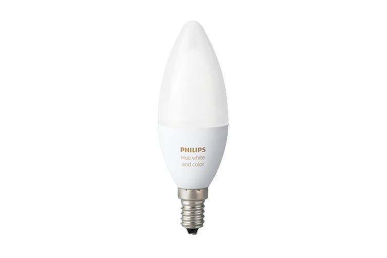 Philips Hue White and Colour Ambience E14 Bluetooth Candle Bulb