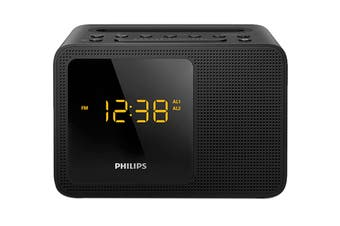 Philips Alarm Clock USB Bluetooth - Black