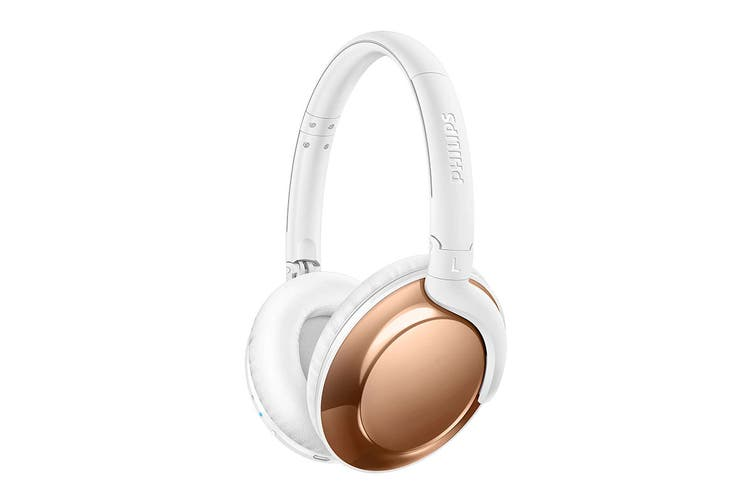 Philips Flite Wireless Bluetooth Over-Ear Headphones with Mic - Rose Gold (SHB4805RG)