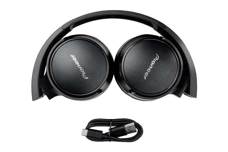 Pioneer On-Ear Bluetooth Headphones with Microphone -Black (SES3BTB)