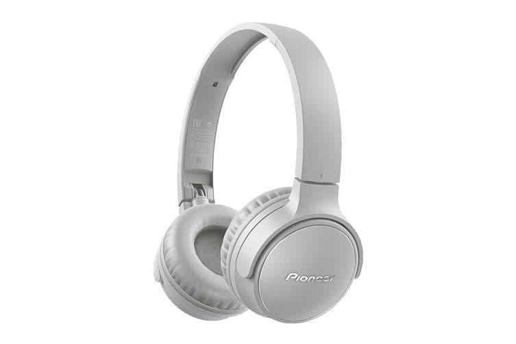 Pioneer On-Ear Bluetooth Headphones with Microphone - Grey (SES3BTH)
