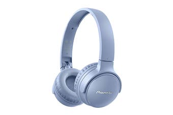 Pioneer On-Ear Bluetooth Headphones with Microphone - Blue (SES3BTL)