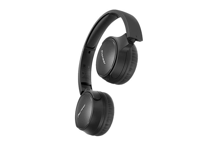 Pioneer On-Ear Noise Cancelling Bluetooth Headphones with Microphone - Black (SES6BNB)
