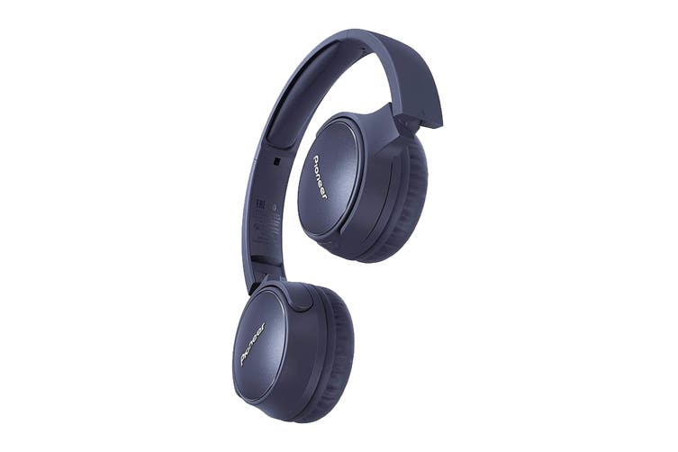 Pioneer On-Ear Noise Cancelling Bluetooth Headphones with Microphone - Blue (SES6BNL)